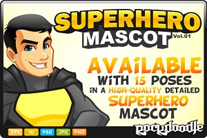 Superhero Mascot - Costume 3
