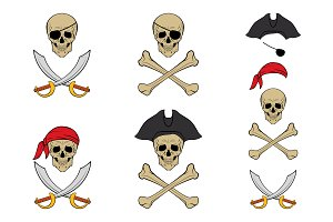 Pirate skull set.