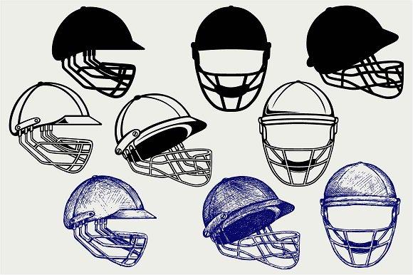 Cricket helmet SVG