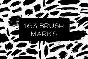 163 Vector Brush Marks