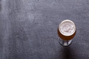 Beer on blackboard