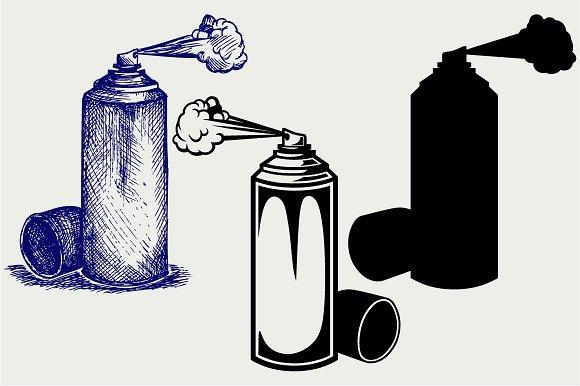 Spray Paint SVG DXF