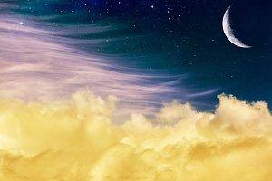 Fantasy Clouds & Moon