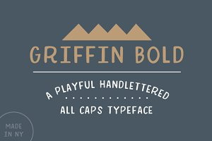 Griffin Bold Handlettered Typeface