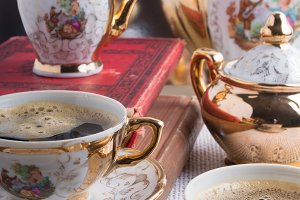 Antique porcelain coffee cups