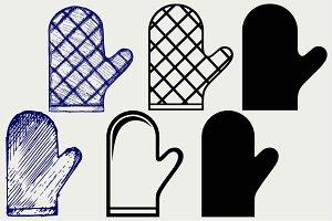 Kitchen glove SVG