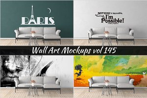 Wall Mockup - Sticker Mockup Vol 145