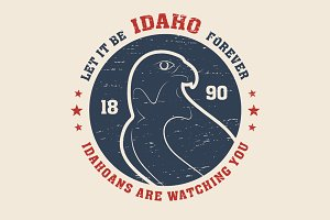 Idaho tee design with peregrine