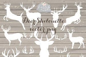 Vector Deer shilouette cliparts