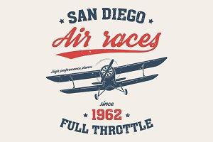 San Digeo air races tee design