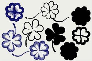 Set clovers SVG