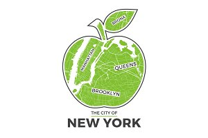 New York big apple tee design