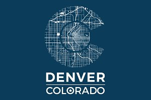 Denver tee design with city map