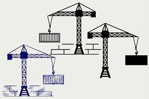 Crane working SVG