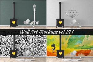 Wall Mockup - Sticker Mockup Vol 147