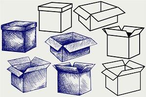 Cardboard box SVG