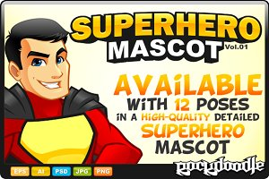Superhero Mascot - Costume 2