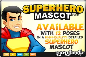 SuperHero Mascot - Costume 4