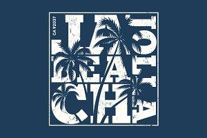 La Jolla beach tee print