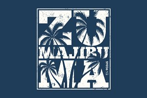 Malibu Zuma beach tee print