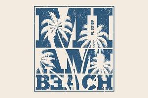 Miami beach tee print