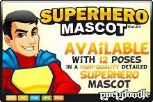 SuperHero Mascot - Costume 1