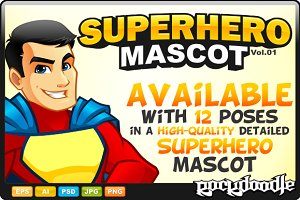 SuperHero Mascot - Costume 1