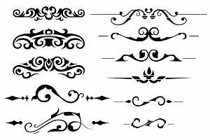 Vector set ornaments 1