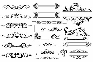 Vector set ornaments 2