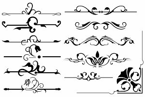 Vector set ornaments 3