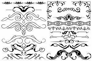 Vector set ornaments 4