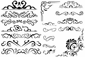 Vector set ornaments 6