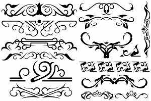 Vector set ornaments 7