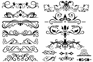 Vector set ornaments 8