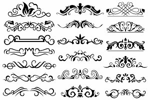 Vector set ornaments 9
