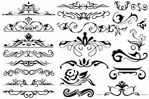 Vector set ornaments 10