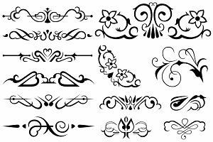 Vector set ornaments 11