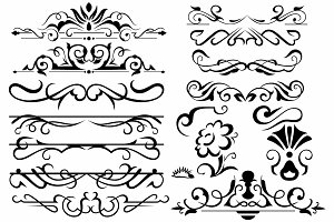 Vector set ornaments 13