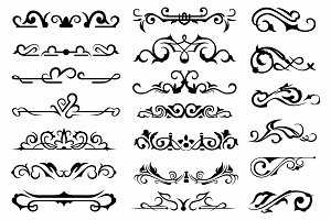 Vector set ornaments 14