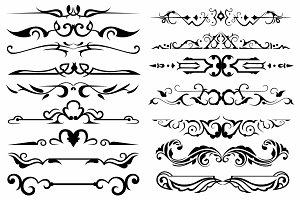 Vector set ornaments 15