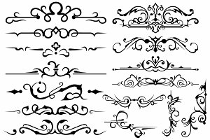 Vector set ornaments 16