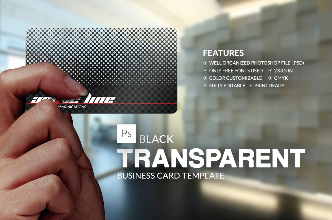 Black Transparent Business Card ~ Business Card Templates ...