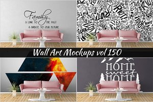 Wall Mockup - Sticker Mockup Vol 150