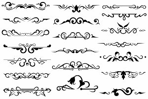 Vector set ornaments 17