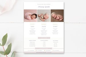 Newborn Photo Pricing Template