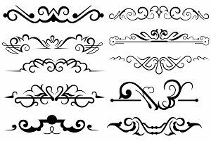 Vector set ornaments 18