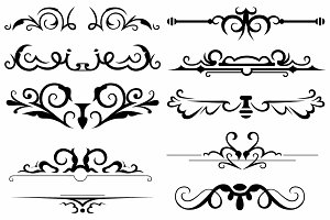 Vector set ornaments 19
