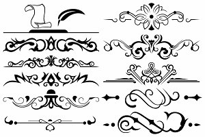 Vector set ornaments 20