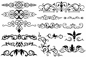 Vector set ornaments 21