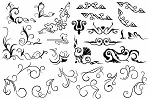 Vector set ornaments 22